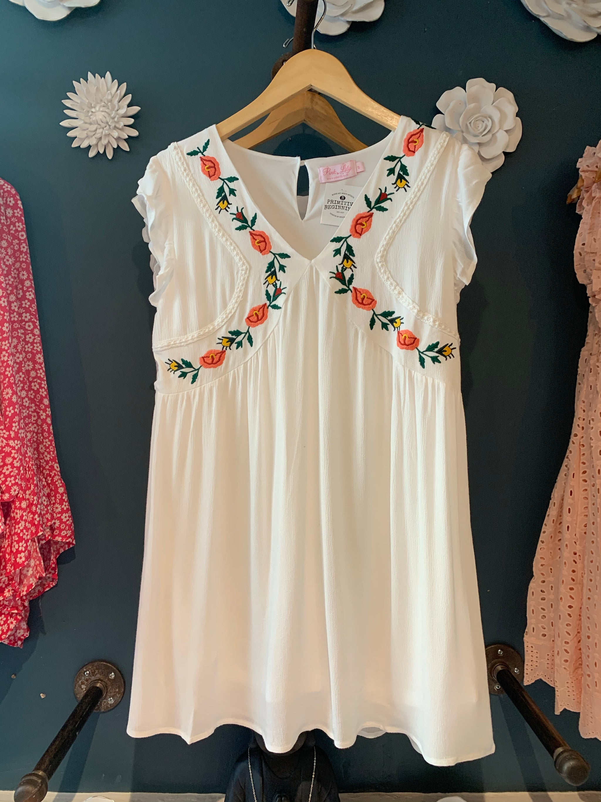 Summer Romance Embroidered Dress