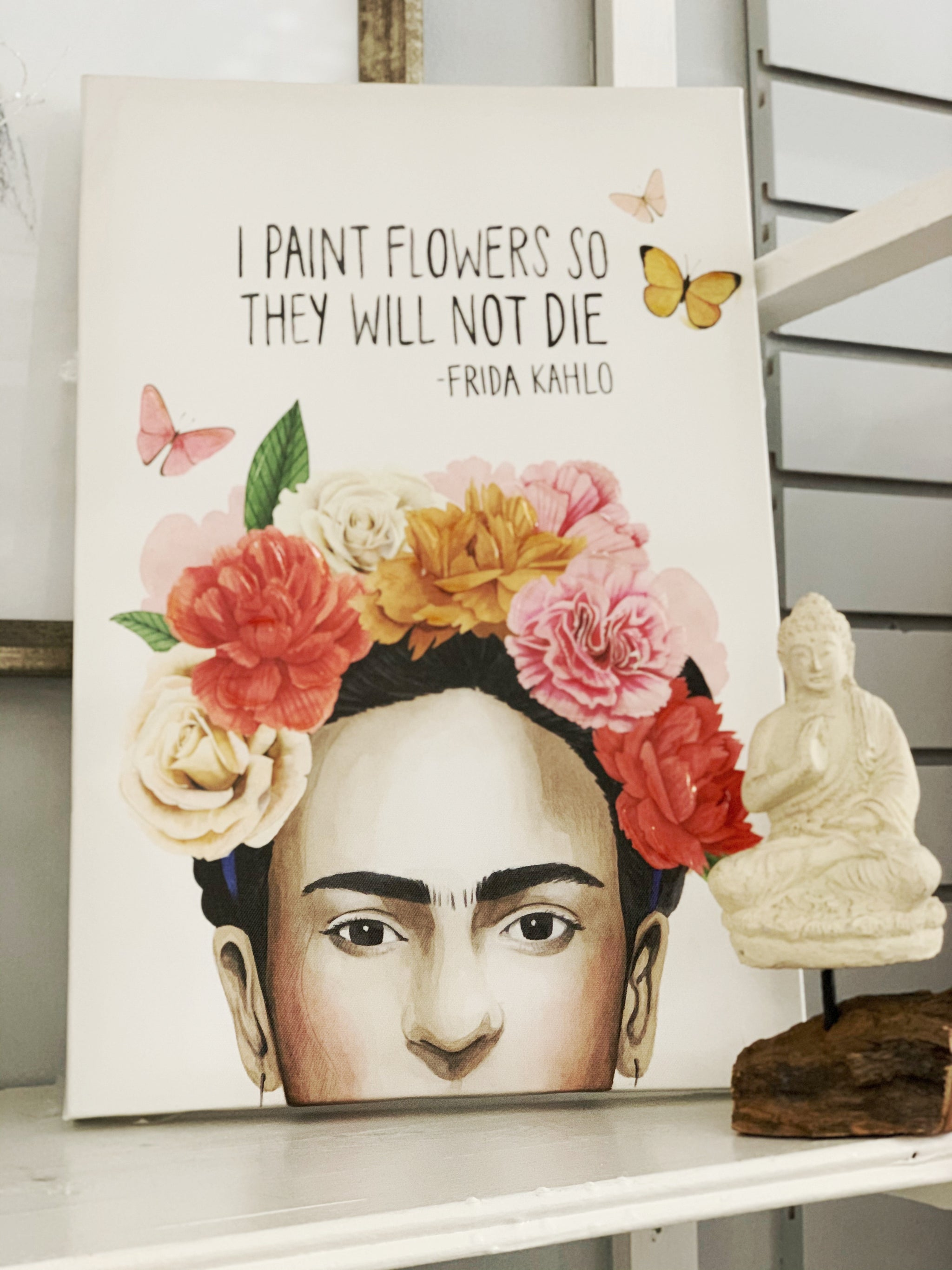 Frida Quote Wall Decor 12x 18