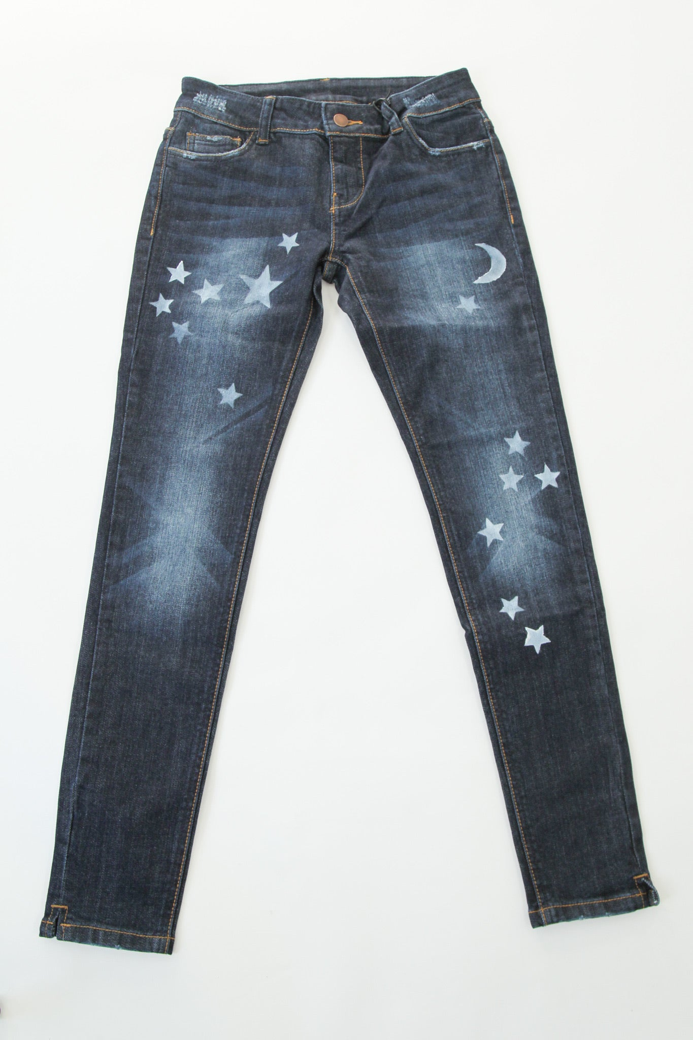 Low Rise Skinny Star Jeans