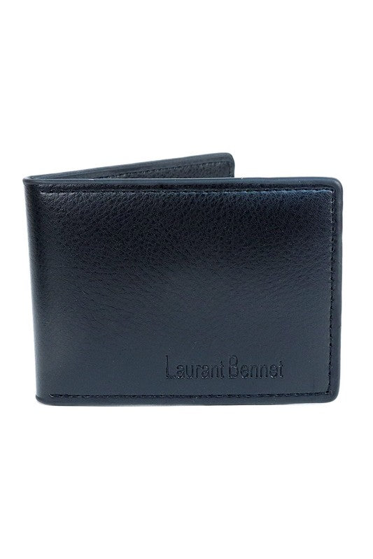 Mens Slim Black Bifold wallet