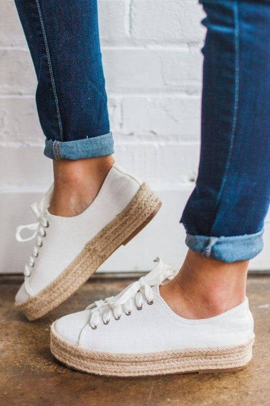 White Rope Sneaker Shoe