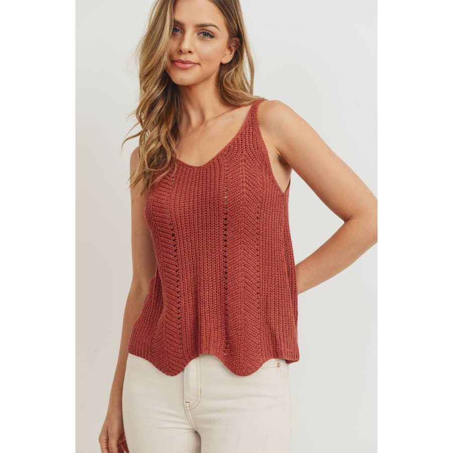 Scalloped Sweater Cami