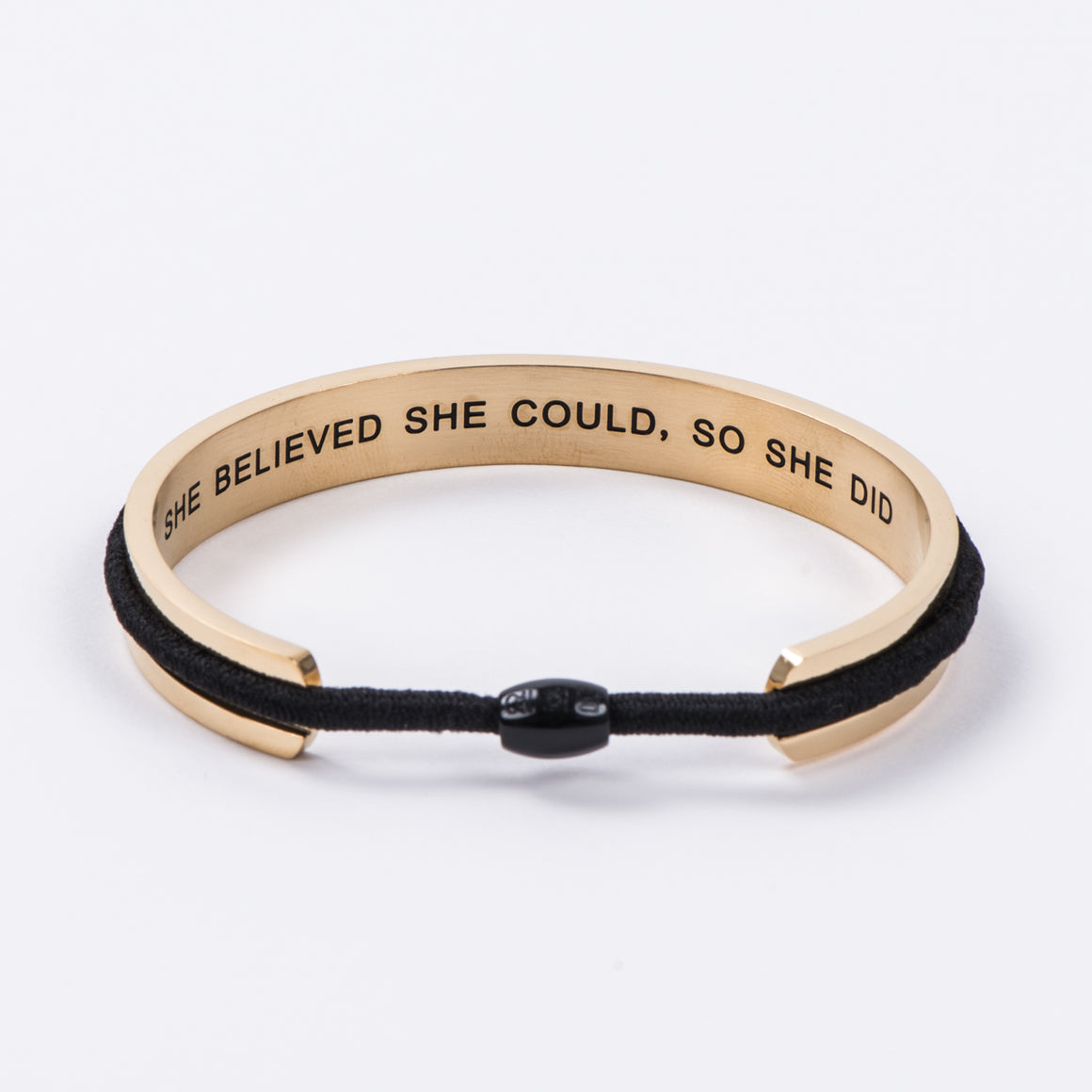 Yellow Gold She Believed Steel Hair Tie and Bracelet