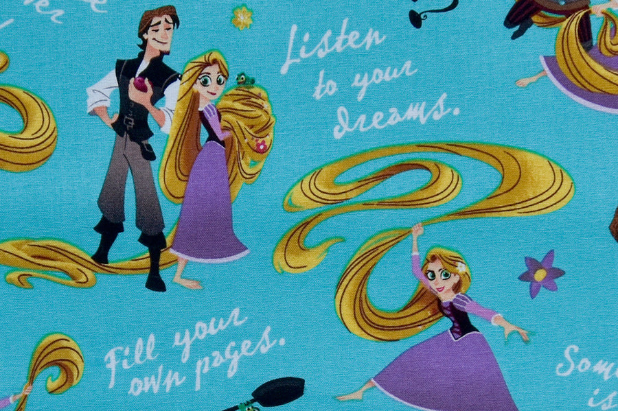 Disney Tangled, Princess Rapunzel Fabric - Listen to your Dreams
