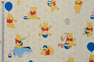 Winnie the Pooh Fabric - Friends & Honey Children's Fabric