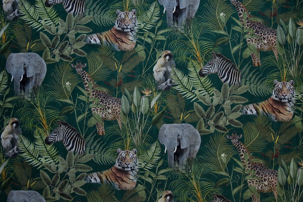 Tropical Wildlife - Digital Print Fabric