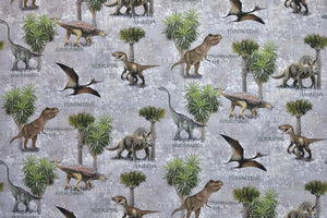 Dinosaur Fabric - Real Life Looking Dinosaurs, T-Rex