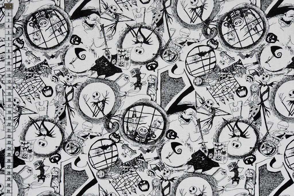 The Nightmare before Christmas Fabric - Jack's World