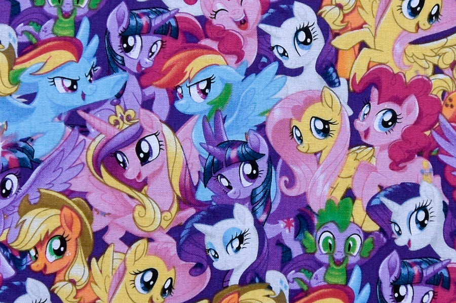 My Little Pony Fabric - Pony Magic. Brightly Coloured Children's Fabric