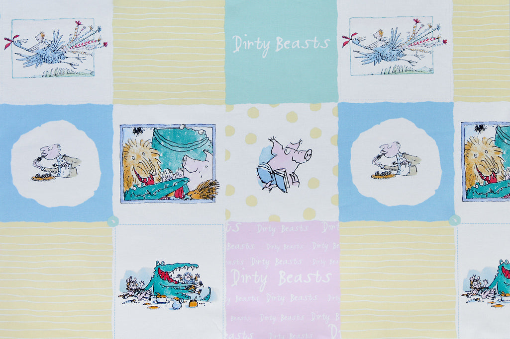 Roald Dahl Fabric - Dirty Beasts
