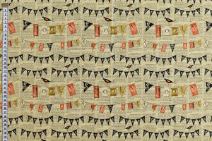 Halloween Fabric - Spooky Bunting Design