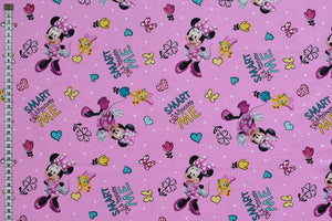 Minnie Mouse Fabric - Positive and Motivational Design in Pink