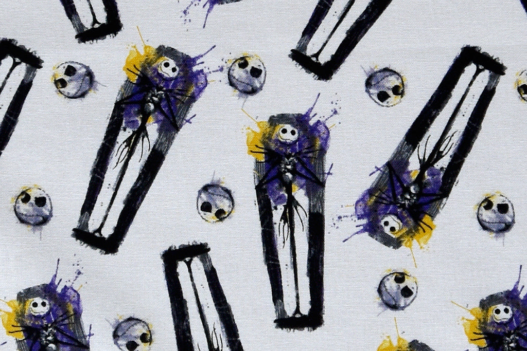 Disney The Nightmare before Christmas Fabric - Jack & his Creepy Coffin