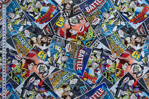Toy Story Fabric - Comic Book Theme with Woody & Buzz