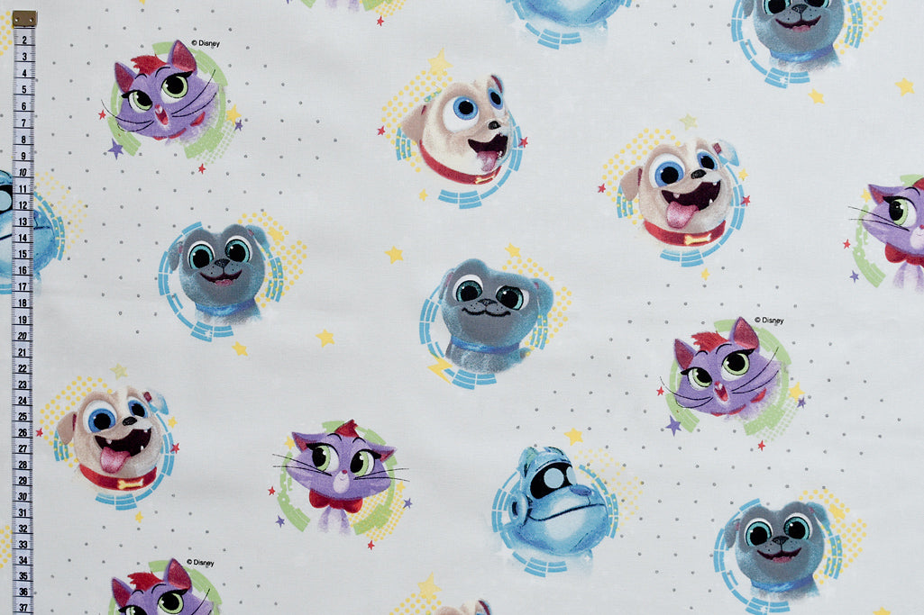 Puppy Dog Pals Fabric - Bingo, Rolly, Hissy and A.R.F