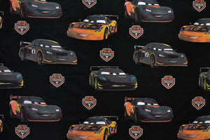 Disney Pixar Cars 3 Fabric - Carbon Racers, Black