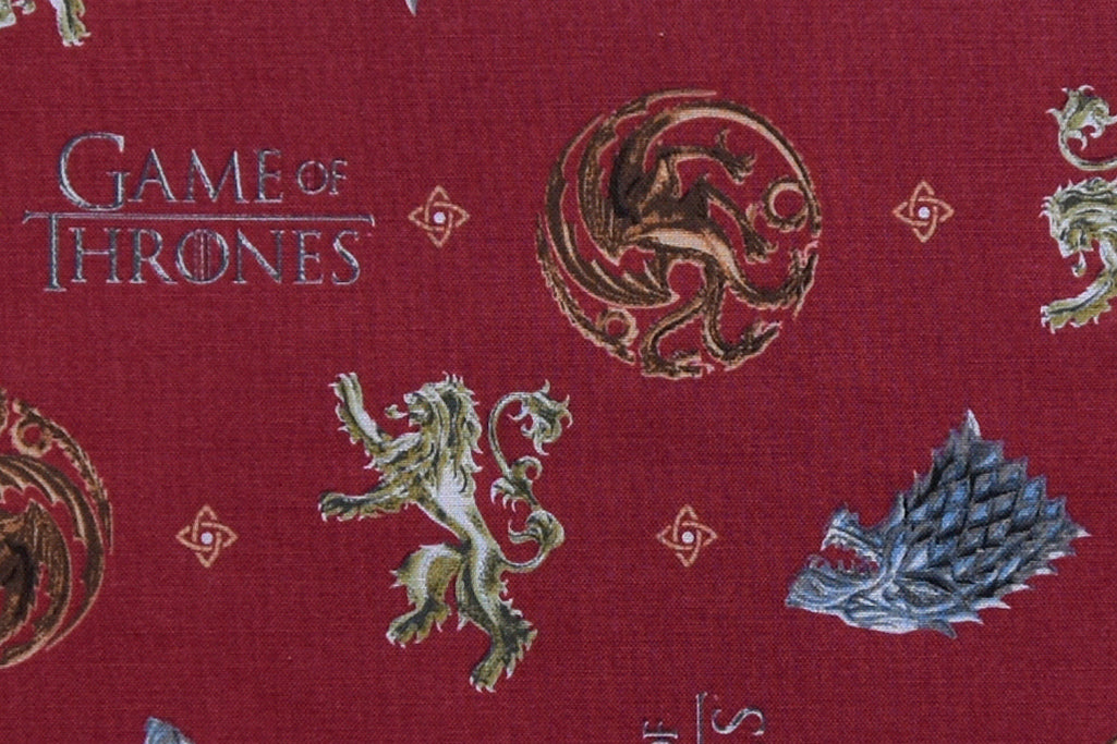 Game Of Thrones You Win Or You Die GOT Fabric sold by half metre