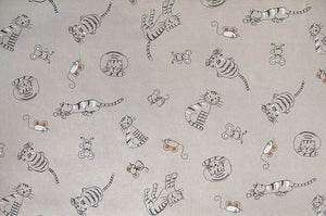 Large print cat and mouse fabric