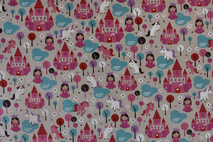 Princess and Unicorn Fabric