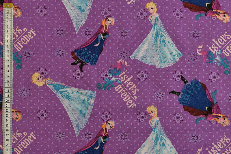 Disney Frozen 'Sister Forever' Purple Fabric - Springs Creative