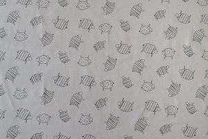 Sketched Sheep Design Fabric
