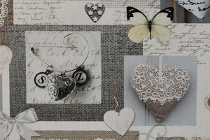 Wedding Hearts & Love Fabric