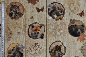 Forest Animal Fabric - Foxes, Squirrels, Bears & Owls