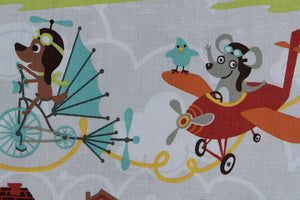 Little Flyers Fabric by Riley Blake. Animals as Pilots. Dogs, Foxes & Raccoons