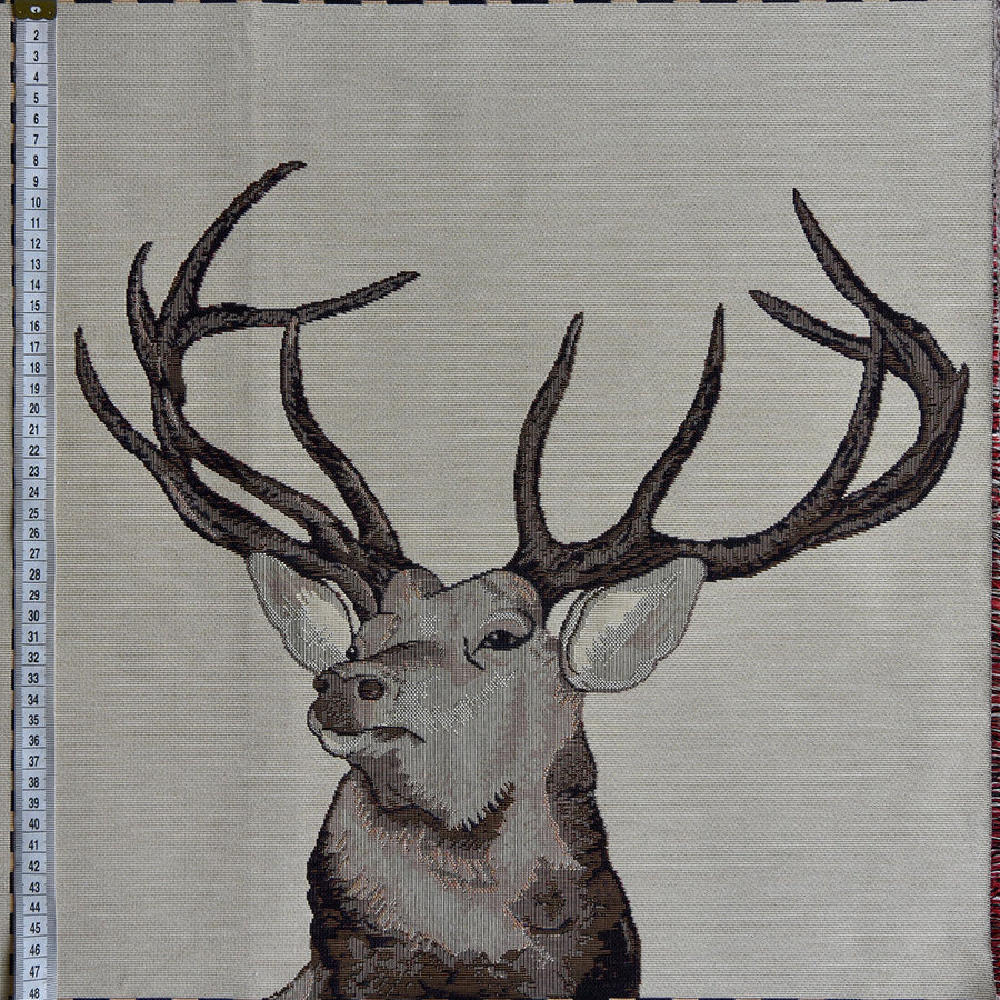 Stag Cushion Panel - 45cm x 45cm, Heavy Woven Fabric