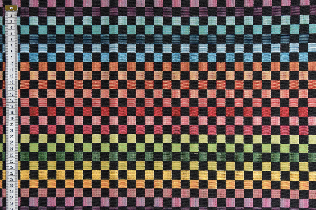Material Art - Geometric Woven Squares Fabric