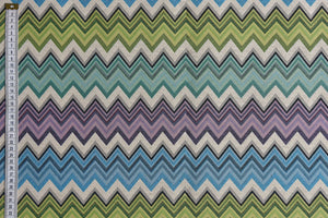 Material Art - Woven Geometric Zigzag Fabric