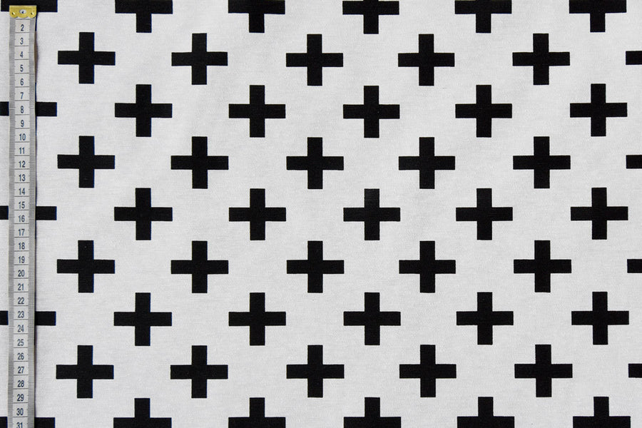 Geometric Cross Fabric