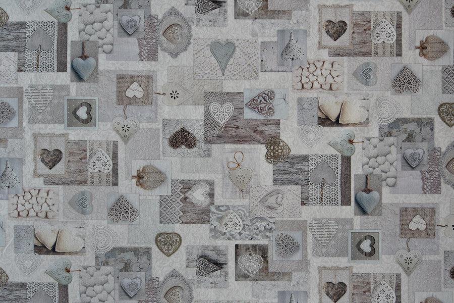 Love Hearts Fabric - Wedding, Love & Valentine Design