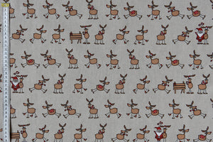 Reindeer Fun Christmas Fabric