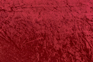 Metallic red crushed velvet