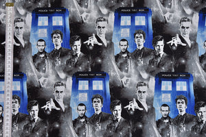 Doctor Who Character Fabric with Tardis