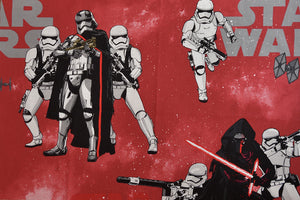 Red Star Wars Fabric with Storm Troopers and Kylo Ren