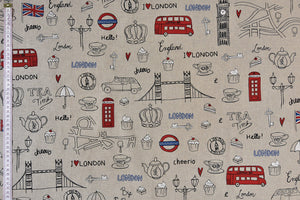London Fabric - Sketches of Tourist Attractions & all things London