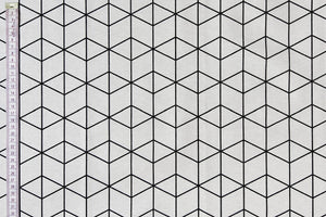 Graphic Geometric Fabric - Balck & White