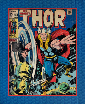 Thor Fabric Panel - Old Style Marvel Comic Look, Avengers