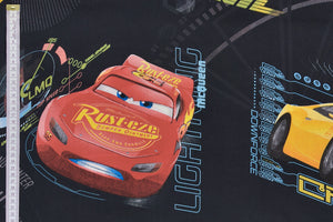 Disney Pixar Cars 3 Fabric - Lightning McQueen, Cruz & Storm