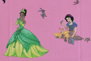 Disney Princesses with Animals Fabric - Tiana, Cinderella, Jasmine