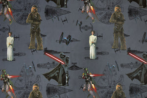 Star Wars Fabric with Darth Vader, Princess Leia & Chewbacca