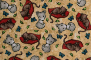 Gorjuss Fabric - Cats & Wolves from My Story Collection by Santoro London