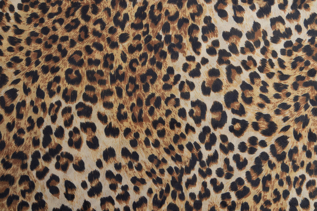 Velvet Animal Print Fabric - Leopard Skin