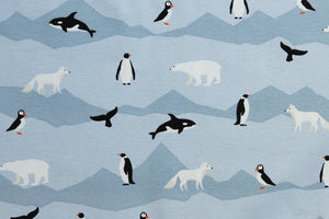 Arctic Animals Fabric - Polar Bears, Penguins, Puffins, Whales & Snow Fox