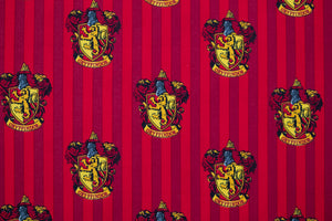 Harry Potter Fabric - Hogwarts Gryffindor House Logo. Red & Yellow