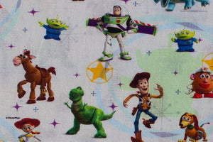 Toy Story Fabric - Buzz Lightyear, Woody and Friends