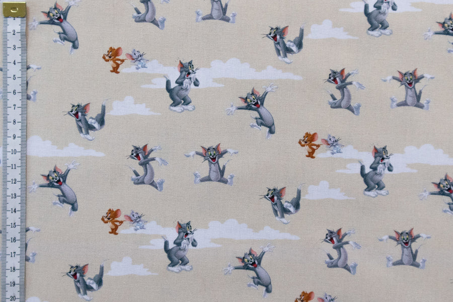 Tom and Jerry Fabric - Classic Cartoon