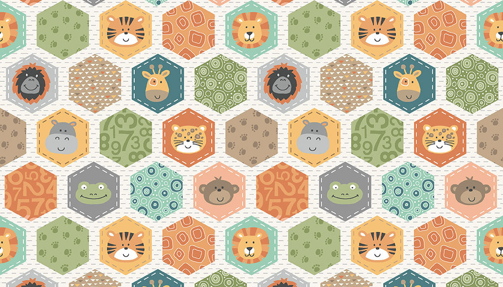 Jungle Friends - Hexagon